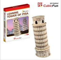 Pisa Leaning Tower mini 3D jigsaw puzzle model for children  Baby educational toys family interaction + free shipping