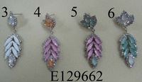 New Arrival Free shipping 4pcs/lots Bohemian Style fashion errings tasselsleaf  earrings  acrylic popular color earrings