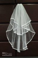 NEW White or Ivory 2 Tier 2T Bride Bridal Wedding Bridal Veil with Comb Wedding Accessories