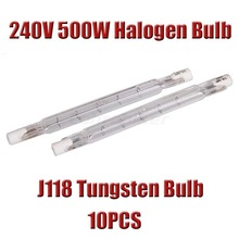 In stock New 10x Linear Lots Halogen Bulb 240v 500w Tungsten J118 Free Shipping(China (Mainland))