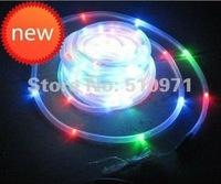 100 LED solar tube RGB string light solar powered christmas garden neon light 12meter length waterproof