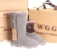 Wgg Snow Boots High-Leg Boots Women's Shoes Winter Boots Genuine Leather Boots Grey Cow Nature Boots