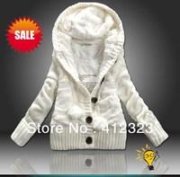 2015 new  women's Ladies coat hoodies jacketswinter outwear  thick cardigan hoody sweater coat overcoat  winter outwear