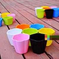 2013 Plant fiber plastic gargen pots,flower pots, 7*3 colors, artificial flowers for home decoration,free shipping!
