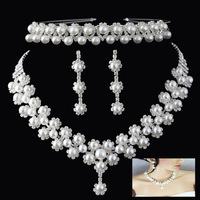 2013 -Free Shipping High quality Hot Sale Wegirl Rhinestone Wedding Jewelry Sets Bridal Jewelry sets 3T019