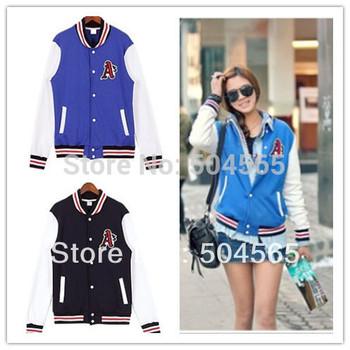Casual Sweatshirt For Women 2014 New Korea Style Women's Hoody Fashion A Baseball Jersey Cardigans Sport Hoodies CO-100