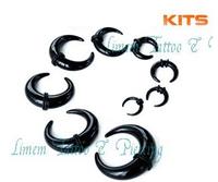 9pcs/LOT Acrylic Ear Spiral Buffalo Kit  Expander Stretcher Pierce Plug  Ear Taper  EGG0015