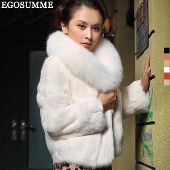New coat of rabbit hair jacket fox fur winter luxury natural fur coats ...