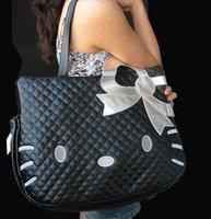 black leather-like tote bag purse, handbag,Free shipping.