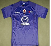 Hot Sell! 12-13 ACF Fiorentina FC Home Customized Purple Soccer Jersey Football Shirt & Short Kit