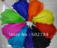 Wholesale 100pcs/lot 14-16 inches 35-40cm mix 2 colors ostrich drab feather colorful ostrich plumes Free Shipping