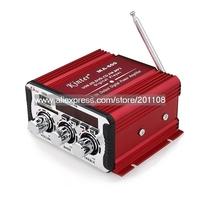 F981A MA-600 20W+20W USB SD DVD CD FM MP3 Digital LED display Motorcycle Car Amplifier