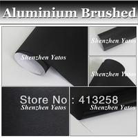 Black Aluminium Brushed Vinyl Car Sheet Wrap