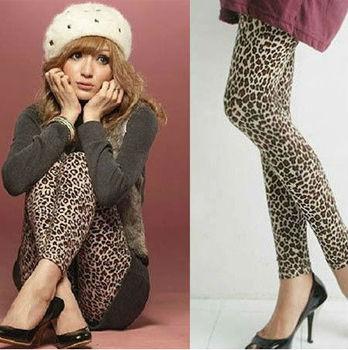New Sexy  Leopard Leggings For Women Stretch Pants 2014 Ladies Sexy Costume Atacado Roupas Femininas Women Underwear