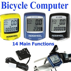Cool Fashion Waterproof LCD Cycling Bicycle Bike Accessories Computer Odometer Speedometer Black Blue Yellow, Free Shipping(China (Mainland))
