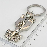 Double mini f 1 automobile race keychain artificial automobile race model logo !