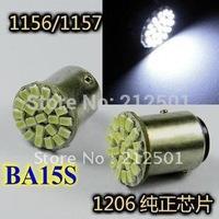 Free shipping LED car light 1156  BA15S 22 LED 1206 SMD car turn brake signal light Socket 1157 are avaiable
