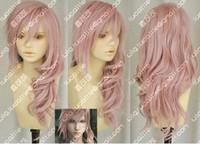 Hot Sell! Final Fantasy Lightning Srah New Long Mix Pink Cosplay Wig W20