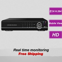 Free shipping 8CH channel HD DVR digital video recorder security surveillance CCTV camera monitoring systems installation home