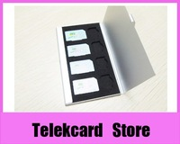 Sim micro sim portable card case card holders, 8 in 1