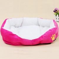 Dog House Pet Product Dog Bed Berber Fleece Non-woven Fabrics Bottom Waterproof Warm Pet Nest Kennel Cat Litter 1pcs/lot