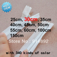 Free shipping  wholesale nylon invisible zipper 30cm 3#  red / white / blue / brown / various color