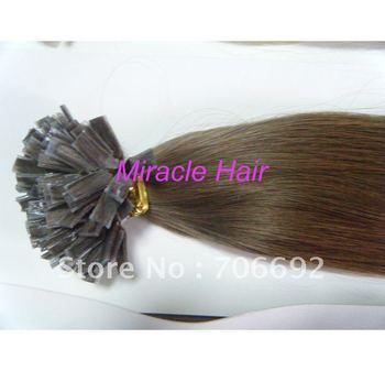 20'' #4 Flat Tip Keratin Glue Prebonded Hair 100g Indian Remy Hair Extensions Human Hair 1g/strand 100s J03