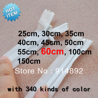 Free shipping  nylon invisible zipper 60cm  3#  red / white / blue / brown / Yellow/various color
