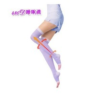 Sleep socks Pressing Germa Sleeping Beauty Leg Slim slimming stockings black purple free shipping