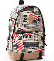 Cheap Fashion American Flag Backpack Bags Sport for Women Schoolbag Satchel Print Papers/Maps Back Packs Travel Bags