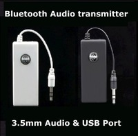 Free Shipping Quality Audio bluetooth stereo wireless transmitter -- Add Bluetooth for iPod MP3 MP4 Computer PC TV PSP Walkman
