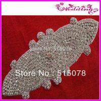 "New Arrive Bridal Rhinestone Crystal Applique Trim Sashes 11.0"" full rhinestone wedding sash applique"