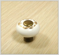 Ceramic wardrobe drawer cabinet handle and knobs(D:1'')