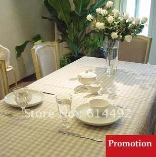 linen checker table cloth with high quality(China (Mainland))