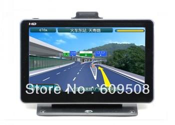 "free shipping 7"" tv ISDB-T car gps navigation bluetooth,av-in HD screen(800*480), wireless rearview camera 4GB  free map"