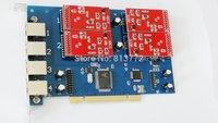 TDM410P tdm410 Asterisk card with 4 FXS/FXO ports,TDM400P,tdm400 digium card