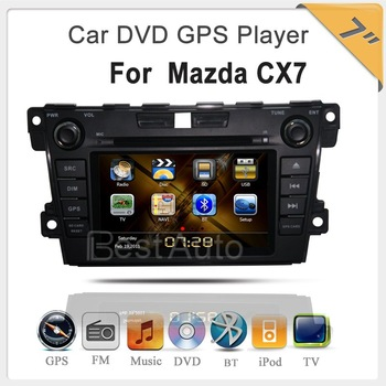 car radio 2 din for Mazda CX-7 car DVD player 7'' Car DVD,GPS,IPOD,TV  7 inch  Digital Touchscreen