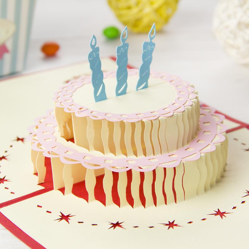 Открытка с тортом на день рождения своими руками