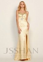 12P004 Strapless Beaded Lace Mermaid Junoesque Elegant Gorgeous Luxury Unique Evening Dress with Train Sexy Prom Dress