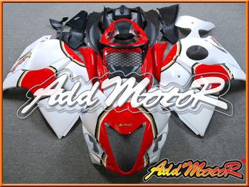 Addmotor Injection Mold Fairing Fit Suzuki Hayabusa GSXR1300 GSX-R 1300 2008-2013 08-13 Red White+Tank Cover S3813