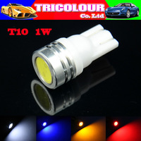 100 X T10 W5W 194 168 1W High Power Car Wedge Reverse License Plate Led Interior industrument light 12V White Red Blue #LB35