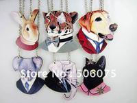 Min Order $10  Hiphop Mens Necklace Wooden Animal pendant necklace Rabbit Koala Leopard Cat Dog Elephant