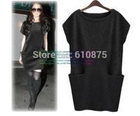 hot sale Plus size fashion elegant autumn and winter one-piece dress sweater women sweater R93
