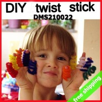 FREE SHIPPING DIY Twist Stick Craft Material Creativity Developing Children Funny Toy Promotion Gift 500pc/lot say hi 210022