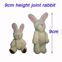 H=9cm Plush Joint Rabbit Pendant For Key/Mobile Phone/Bag For Christmas Gifts Toys Retail/Hot Sale/Wholesale 50pcs/Lot