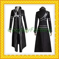 Free Shipping Custom Made Sword Art Online Cosplay Kazuto Kirigay Fullset Costume,2kg/pc