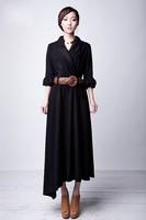 D129  S-4XL  Free shipping 2012 new high quality women's new long linen dress maxi dress