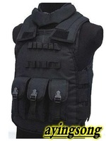 NEW,Tactical vest /US Molle Combat Strike Plate Carrier Vest Black