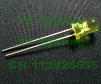 2.0-2.5V diodes Yellow color water clear 5mm LED DIODE(CE&Rosh)