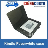 Wholesale 150pcs new pu leather paperwhite cover pouch for Amazon kindle including free shipping